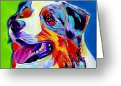 Dawgart Greeting Cards - Aussie Greeting Card by Alicia VanNoy Call