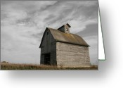 Old Barn Greeting Cards - Austerity Greeting Card by Dylan Punke