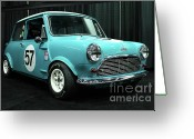 British Cars Greeting Cards - Austin Cooper Greeting Card by Wingsdomain Art and Photography