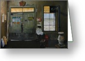 Heater Greeting Cards - Austin General Store Interior Greeting Card by Doug Strickland