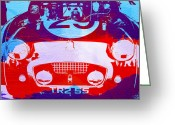Austin Greeting Cards - Austin Healey bugeye Greeting Card by Irina  March