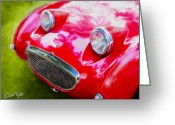 David Kyte Greeting Cards - Austin Healey Bugeye Sprite Greeting Card by David Kyte