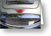 British Classic Cars Greeting Cards - Austin Healey Greeting Card by Wingsdomain Art and Photography