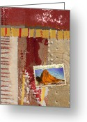 Postage Stamp Greeting Cards - Australia Antarctic Territory Greeting Card by Carol Leigh