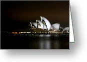 Sydney Harbour. Circular Quay Greeting Cards - Australian Opera House  Greeting Card by Kirsten Chee