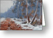 Signed Greeting Cards - Australian Winter  Greeting Card by Graham Gercken