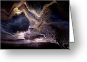 Violet Blue Digital Art Greeting Cards - Authoring the Unpredictable Greeting Card by Casey Kotas