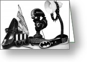 Batman Greeting Cards - Autobiographical Still Life Greeting Card by Kalie Hoodhood
