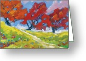Artiste Greeting Cards - Automn Trees Greeting Card by Richard T Pranke
