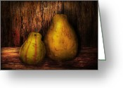 Ugly Greeting Cards - Autumn - Gourd - A pair of squash  Greeting Card by Mike Savad