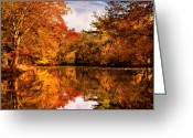 Autumn Scenes Greeting Cards - Autumn - Landscape - In a dream I had Greeting Card by Mike Savad