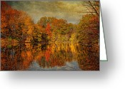 Autumn Scenes Greeting Cards - Autumn - Landscape - Tamaques Park - Autumn in Westfield NJ  Greeting Card by Mike Savad