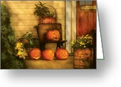 Autumn Scenes Greeting Cards - Autumn - Pumpkin - The Jolly Bunch Greeting Card by Mike Savad