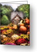 Storybook Greeting Cards - Autumn - Pumpkin - This years harvest was Awesome  Greeting Card by Mike Savad