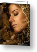 Gold Earrings Photo Greeting Cards - Autumn 04 Greeting Card by Silvio Schoisswohl