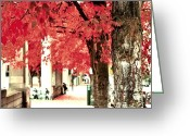 Pdx Art Greeting Cards - Autumn Afternoon Greeting Card by Cathie Tyler