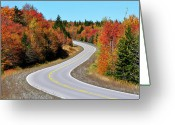 Winding Road Greeting Cards - Autumn along the Highland Scenic Highway Greeting Card by Thomas R Fletcher