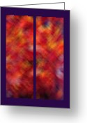 Turning Leaves Greeting Cards - Autumn Ash Tree Diptych Greeting Card by Steve Ohlsen