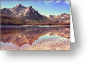 Stanley Greeting Cards - Autumn At Stanley Lake, Idaho Greeting Card by Anna Gorin Design & Photography