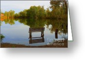 Autumns Mixed Media Greeting Cards - Autumn at the Riverside - Scenic Idaho Greeting Card by Photography Moments - Sandi