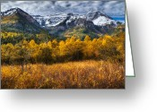 Forested Greeting Cards - Autumn Colors on Mount Timpanogos Greeting Card by Utah Images