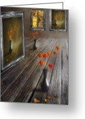 Photomanipulation Digital Art Greeting Cards - Autumn colours Greeting Card by Veikko Suikkanen