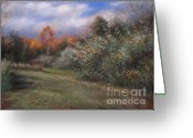 Woods Pastels Greeting Cards - Autumn Greeting Card by Emily MaCoy