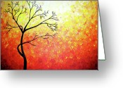 Lafferty Sculpture Greeting Cards - Autumn Evening Greeting Card by Daniel Lafferty