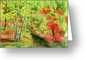 Fall Nature Greeting Cards - Autumn Fun Greeting Card by Mary Tuomi
