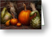 Fresh Picked Fruit Greeting Cards - Autumn - Gourd - Family get together Greeting Card by Mike Savad