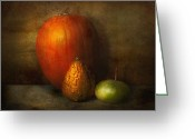 Autumn Scenes Greeting Cards - Autumn - Gourd - Melon family  Greeting Card by Mike Savad