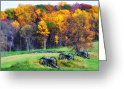 Cannons Greeting Cards - Autumn Guns Greeting Card by Bill Cannon