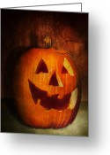 Scare Greeting Cards - Autumn - Halloween - Jack-o-Lantern  Greeting Card by Mike Savad