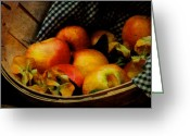 Food And Beverage Art Greeting Cards - Autumn Harvest Greeting Card by Lois Bryan