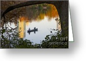 November Sunset Greeting Cards - Autumn Idyll on Lake Austin Greeting Card by Sean Griffin