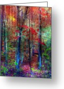Morning Mist Images Greeting Cards - Autumn in Arkansas Greeting Card by Judi Bagwell