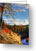 Color Bending Greeting Cards - Autumn in Arrowhead Provincial Park Greeting Card by Oleksiy Maksymenko