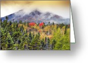 Baxter Park Greeting Cards - Autumn in Baxter State Park Maine Greeting Card by Brendan Reals