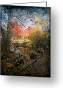 Sharon Obrien-huey Greeting Cards - Autumn In Lambertville Greeting Card by Sharon OBrien-Huey