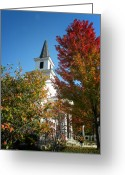 Fall Scene Greeting Cards - Autumn in Long Grove Greeting Card by Julie Palencia