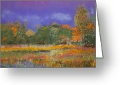 Red Leaves Pastels Greeting Cards - Autumn in Nisqually Greeting Card by David Patterson
