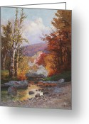 Western Massachusetts Greeting Cards - Autumn in the Berkshires Greeting Card by Christian Jorgensen