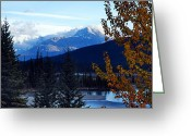 Canadian Rockies Greeting Cards - Autumn in the Mountains Greeting Card by Larry Ricker