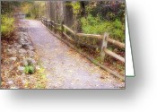 Incline Greeting Cards - Autumn In The Park Greeting Card by Brian Wallace