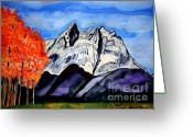 The Start Greeting Cards - Autumn in the Tetons Greeting Card by Paul Chenoweth