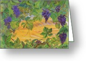 Purples Tapestries - Textiles Greeting Cards - Autumn In Wine Country Greeting Card by Carolyn Doe