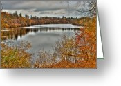 Denmark Greeting Cards - Autumn Lake Greeting Card by Gert Lavsen