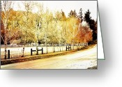 Pdx Art Greeting Cards - Autumn Landscape Greeting Card by Cathie Tyler