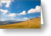 Alpine Panorama Greeting Cards - Autumn landscape in Retezat Greeting Card by Gabriela Insuratelu