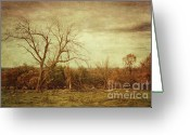 Green Day Greeting Cards - Autumn landscape Greeting Card by Sandra Cunningham